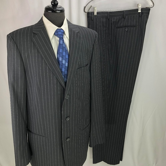 Emanuel Ungaro Suits Amp Blazers Mens Gray Pinstripe Wool